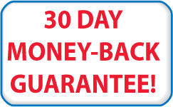 30 Day Money Back Guarantee- IF you don't like it, just send it back within 30 days for a full refund